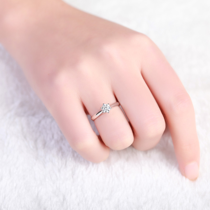 ZOCAI Century Classic Real 0,18 CT D-E / SI Δαχτυλίδι - Κοσμήματα - Φωτογραφία 5