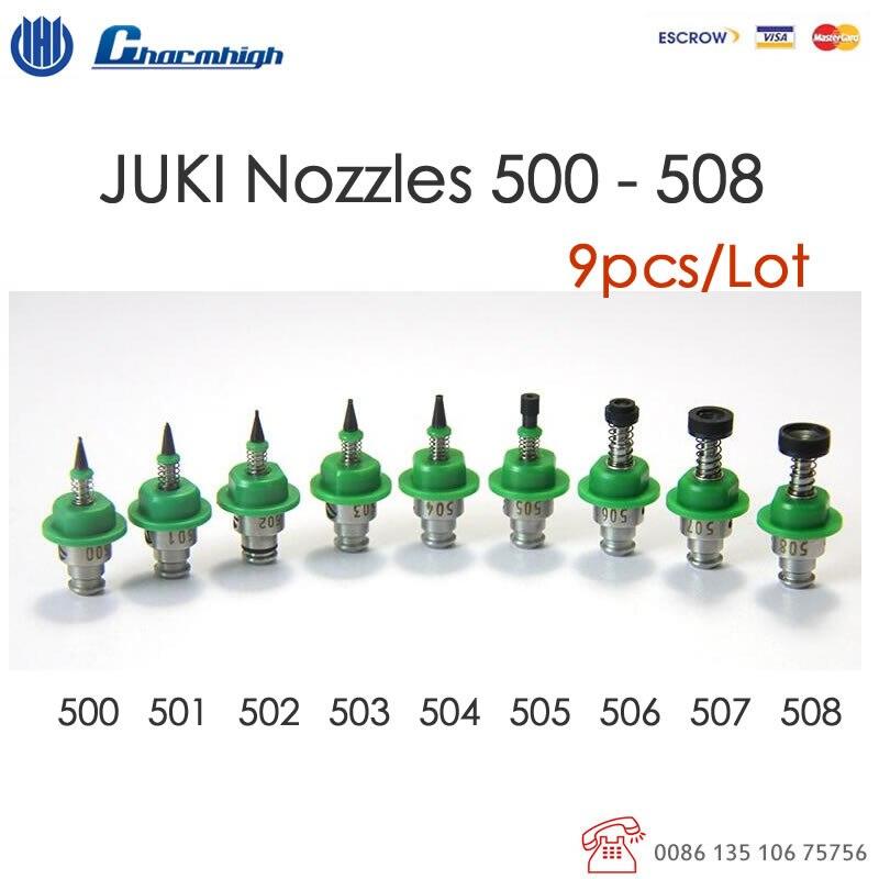 Free shipping 9pcs set Standard JUKI Nozzle 500 501 502 503 504 505 506 507 508