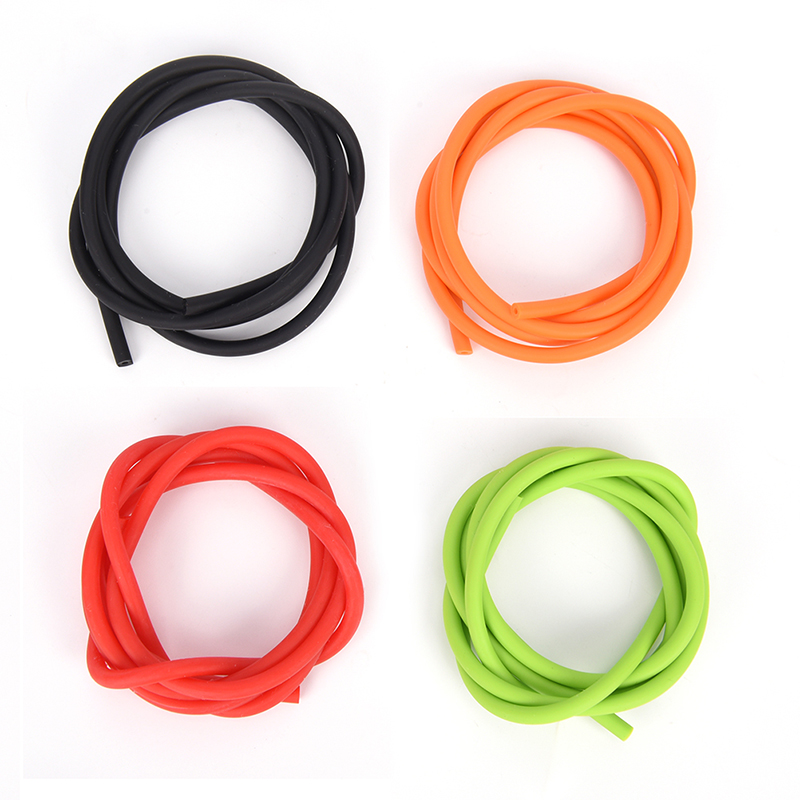 4 Colors  Hunting Catapult Elastic Part Fitness Bungee 1.8x4.2mm 1m Latex Slingshots Rubber Tube Tubing Band For Slingshot