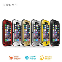 for iphone 6s Love Mei Waterproof Shockproof Gorilla Glass Metal Aluminum phone Case Cover For iphone