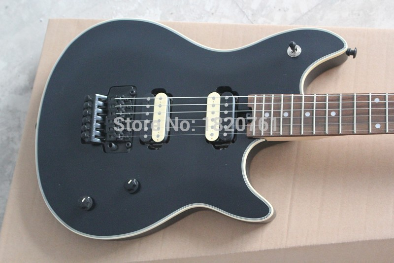 Free shipping Custom Shop Guitar Rosewood EVH Wolfgang Black 6 Strings Electric Guitar in stock . new arrival matte black finish wolfgang evh electric guitars chinese solid guitar body