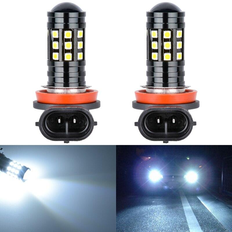 Katur 2x H11 H8 H16 LED Car Fog Bulbs HB3/9005 9006/HB4 5202 H7 High Power 2700Lm 3030 27 SMD Daytime Running Light DRL Lamp