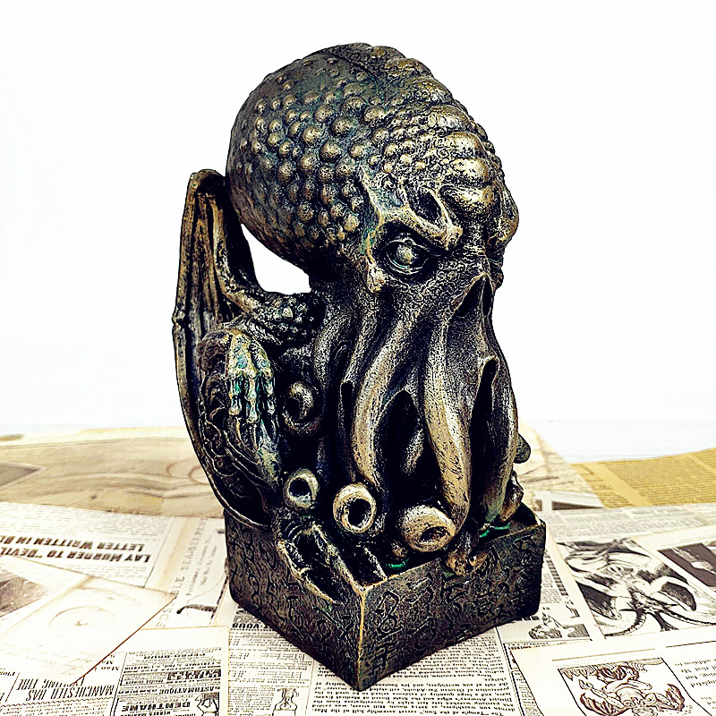 Great Old Ones Cthulhu Statue Howard Phillips Lovecraft Cthulhu Mythos Bust Roo-lee-ah Home Decorations Colophony Crafts L2695 howard phillips lovecraft celephais