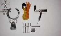 Manual 304 stainless steel Polishing treatment DIY KITS slingshot Mechanical Slip Slingshot Hunting Catapult DIY