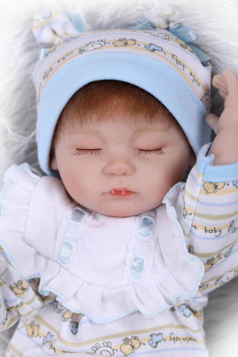 very cute 43cm 17''reborn baby doll sleeping girl doll top seller