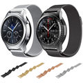 Versión magnética milanese venda de reloj para samsung gear s3 classic frontera s3 reloj correa de banda de malla de acero inoxidable para el engranaje