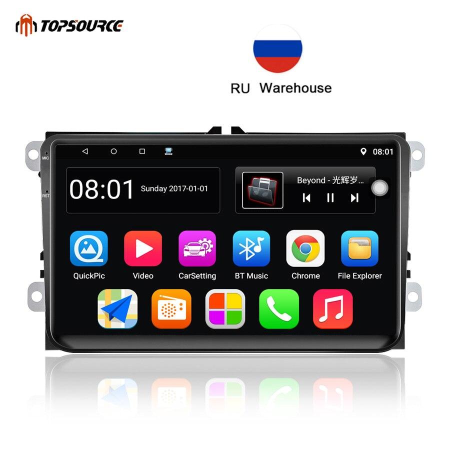 TOPSOURCE 9001 autoradio Android 6.0 Double 2 Din GPS HD 9 pouces écran tactile 800X480 BT Wifi FM voiture lecteur multimédia pour VW