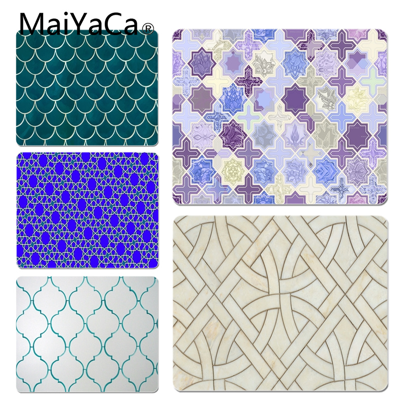 MaiYaCa New Designs Moroccan Backgrounds Customized laptop Gaming mouse pad Size for 18x22cm 25x29cm Small Mousepad