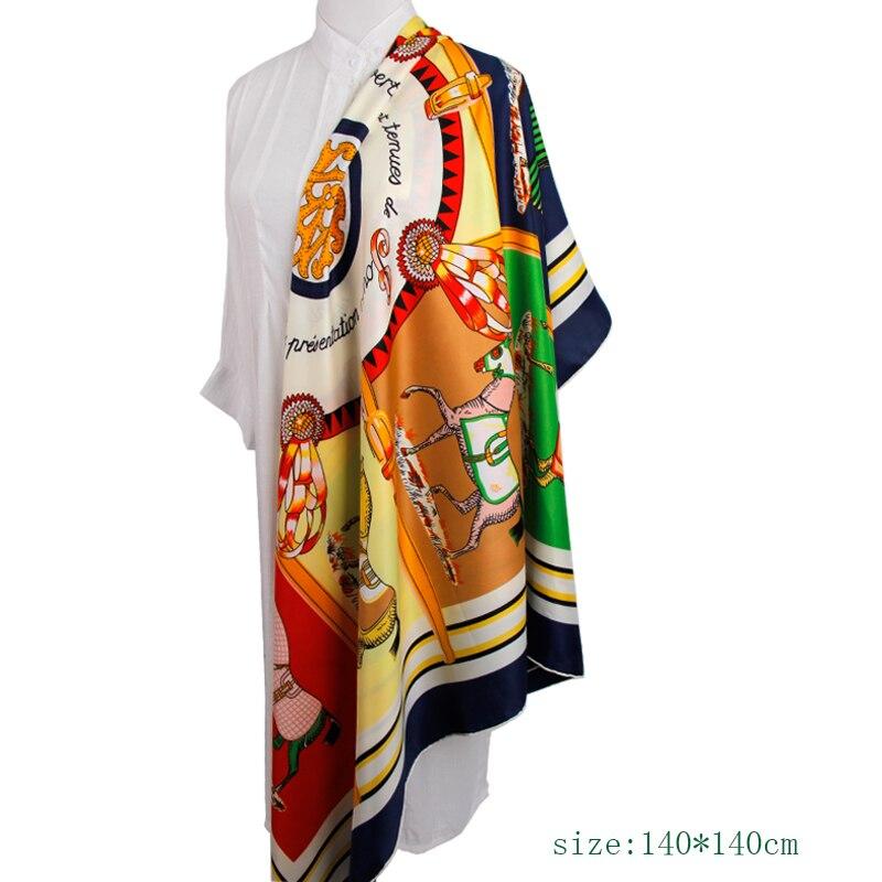 MAGNOLIA Fashion Silk Twill Scarf Կանայք բարձրորակ - Հագուստի պարագաներ - Լուսանկար 5