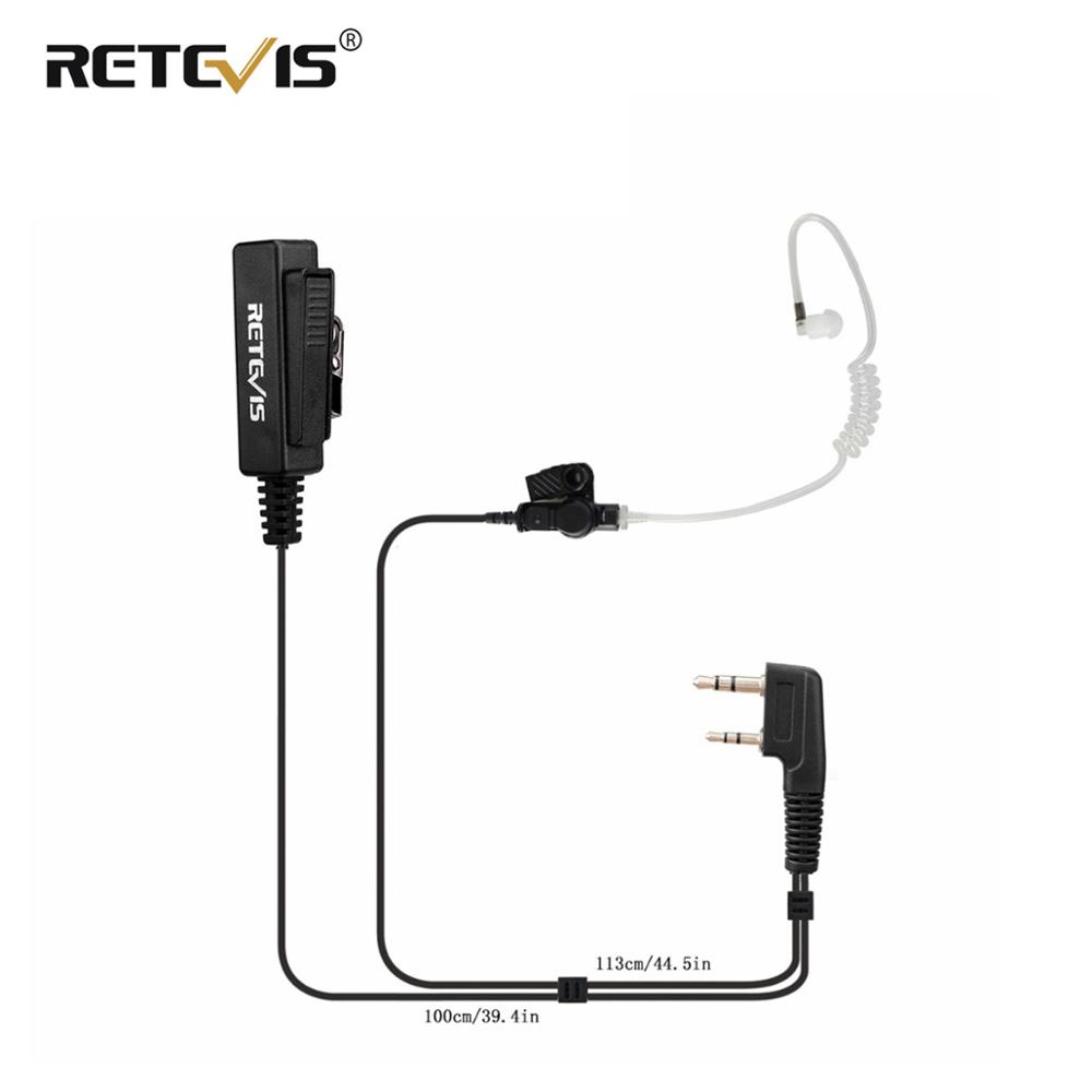 Big Size PTT 2Pin Mic Earpiece Headset For Kenwood Retevis H777 RT5R RT5 RT7 RT22 For Baofeng UV5R BF-888S UV-82 Walkie Talkie