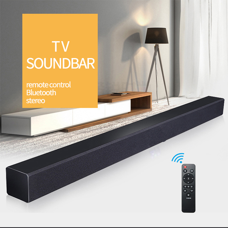 DHL JYAUDIO A1 TV Soundbar Wood Wireless Bluetooth Speaker Sound Bar Surround Stereo Home Theatre System PC Computer Cinema Wall