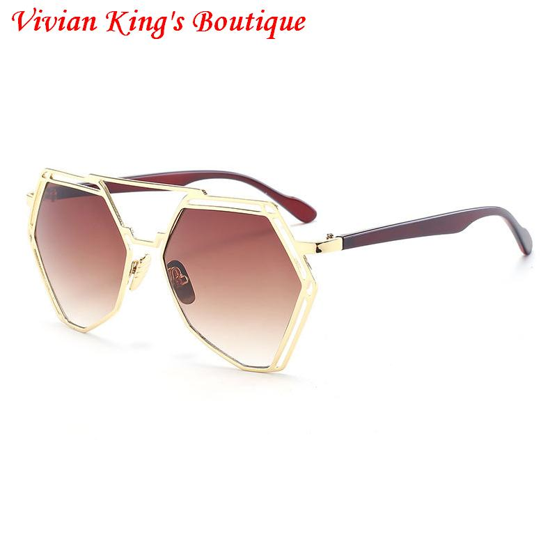69a21c748 IMAKEFASHION خمر مسدس إطار النظارات الشمسية الرجال والنساء الفاخرة المتضخم  نمط النظارات الشمسية سيدة كوريا الجنوبية الأزياء JWW125