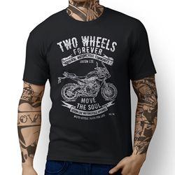 Wysokiej jakości koszulka japoński klasyczny motocykl MT09 Tracer koszulka bawełniana