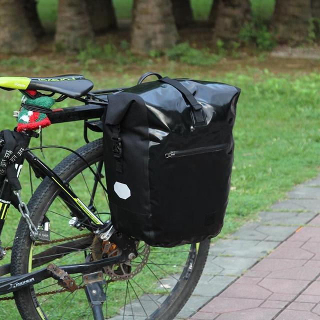 À prova d' água Saco Pannier Traseira Da Bicicleta de Montanha de Bicicleta MTB Estrada de Ciclismo Saco Pannier Assento Cauda Tronco Lateral Dobro Carry Sacos 3 cores
