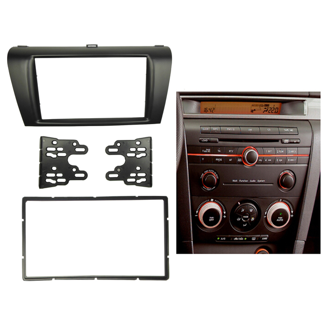 Stereo Panel for MAZDA 3 04-08 Axela 06-08 Single/Double Din Fascia Radio Refitting Dash Mounting Installation Trim Kit Frame