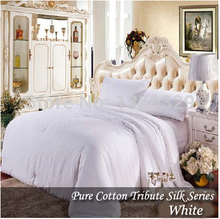 220*240cm White Comforter Silk Blanket Handmade Winter Silk Quilts Yellow colcha Pink edredon Silk Quilted Bedspread silk duvet bedspread ethel silk mediterranean style size 180 220 cm faux silk 100% n a