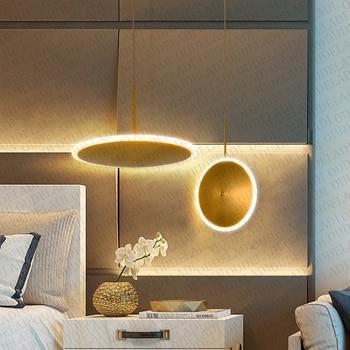 מודרני נורדי ברזל אקריליק זהב UFO תליון עגול יצירתיים מסעדת חדר שינה סלון LED דקורטיבי תאורת מנורות