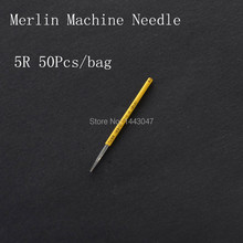 50Pcs/Lot Steriled Round Needle 5R For Permanent Makeup Merlin Tattoo Machine