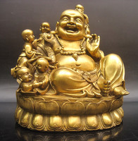 wholesale bronze factory Copper crafts Good copper Large laughing buddha