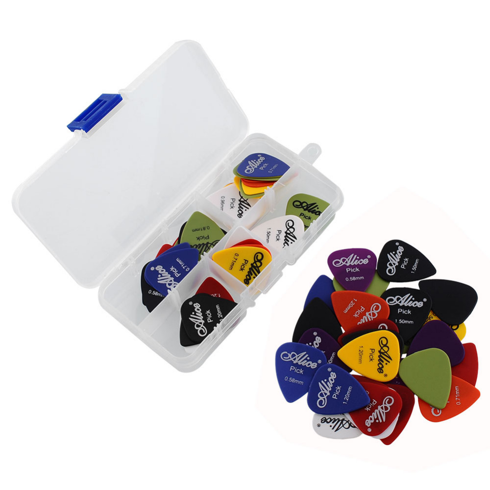 Alice 60Pcs/set Colorful Guitar Picks Plectrums For Acoustic Electric Guitar Bass + Case бутылочки nurtria для кормления 2 шт 240 мл