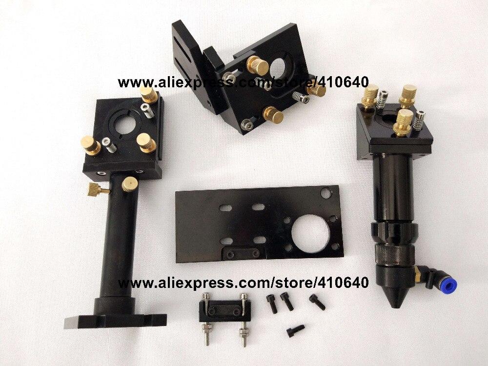 Купить с кэшбэком Full Set of Laser Head Laser Len Support Laser Reflection Mirror Holder Co2 Laser Head Free Shipping Very Good Quality