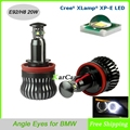 20W 1000LM 6000K Cree chip XP-E OBD Error Free Canbus H8 LED Angel Eyes Lights for BMW E70 X5 E71 X6 E82 E87 E90 E91 E92 E93