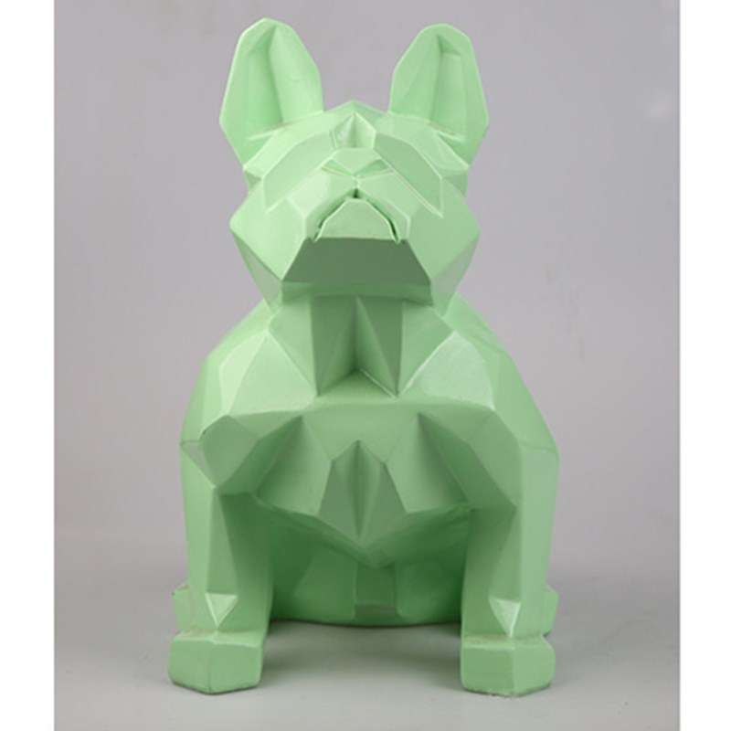 French Bulldog Geometry Dog Statue Plaster Animals Bust Resin Colophony Crafts Sketch Teaching Collectible Decorations L1766
