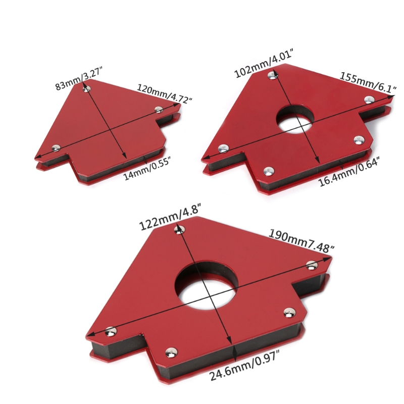 25/50/75 LB Soldering Locator Strong Magnet Welding Magnetic Holder 3 Angle Arrow Welder Positioner Power Tool Accessories