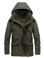 NIAN JEEP Winter Jacket Men New Arrival Thicken Cotton Padded Coat England Style Fashion Army Green