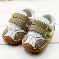 Moda chłopcy dziecko oddychające buty dla małego dziecka miękkie dno antypoślizgowe dziecięce buty Bady