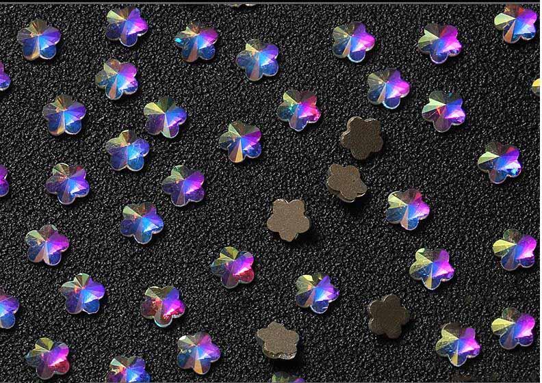 Blumen Flatback Strass/kristall Ab Flatback Ab Kristalle/nagel Schmuck Nagel Dekoration Waterdrop Ehrlichkeit 6 Arten 20 Stücke Herz
