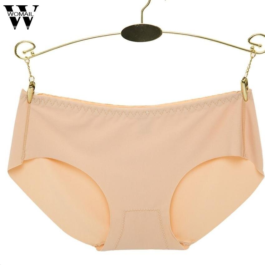 Verano sexy Mujer Invisible Ropa interior Bragas brief color sólido hielo  sin costura Bragas 8be657d84151