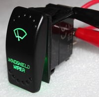 Green Led 7 Pins ON OFF ON WINDSHIELD WIPER Rocker Switch For ARB CARLING NARVA Style
