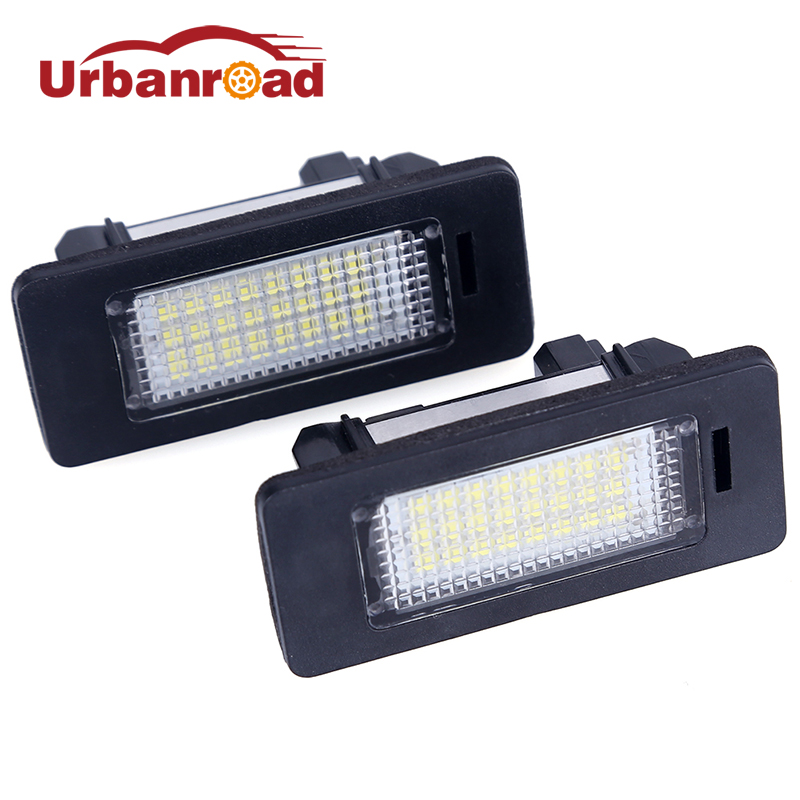 Urbanroad 2Pcs Led Number Plate For BMW e60 Number License Plate Light Lamp For BMW E39 M5 E70 E71 X5 X6 E60 M5 E90 E92 E93 M3 new arrival 2x 24 led license plate number light lamp for bmw e39 e46 e60 e61 e70 e82 e88 e90 e91 m3