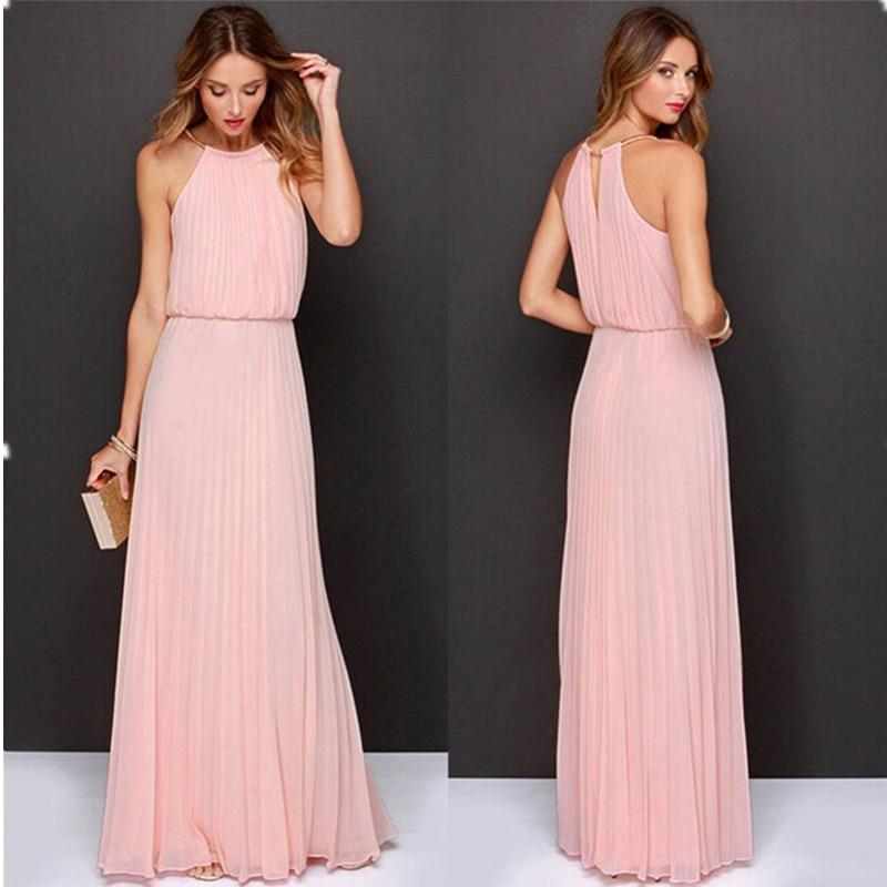 Summer Women Sexy Long Party Dresses 2016 Sleeveless -8414
