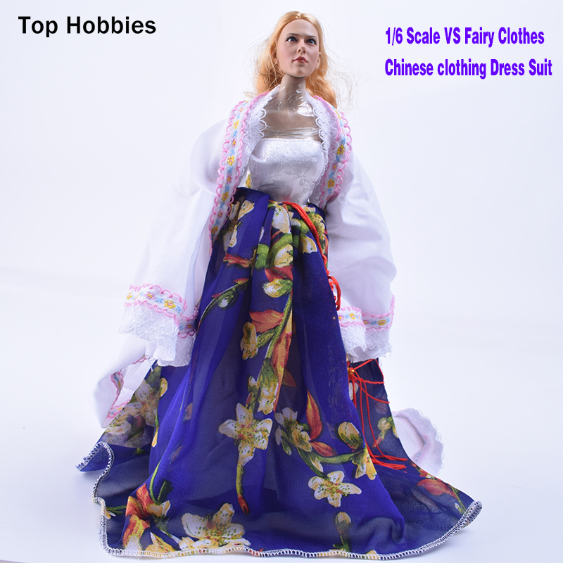 1/6 Scale VS Fairy Clothes Chinese Dress Suit Fit 12 Phicen Action Figure Doll Toys Middle/S Bust Flexible Seamless BodySteel 1 6 scale figure doll clothes male batman joker suit for 12 action figure doll accessories not include doll and other 1584