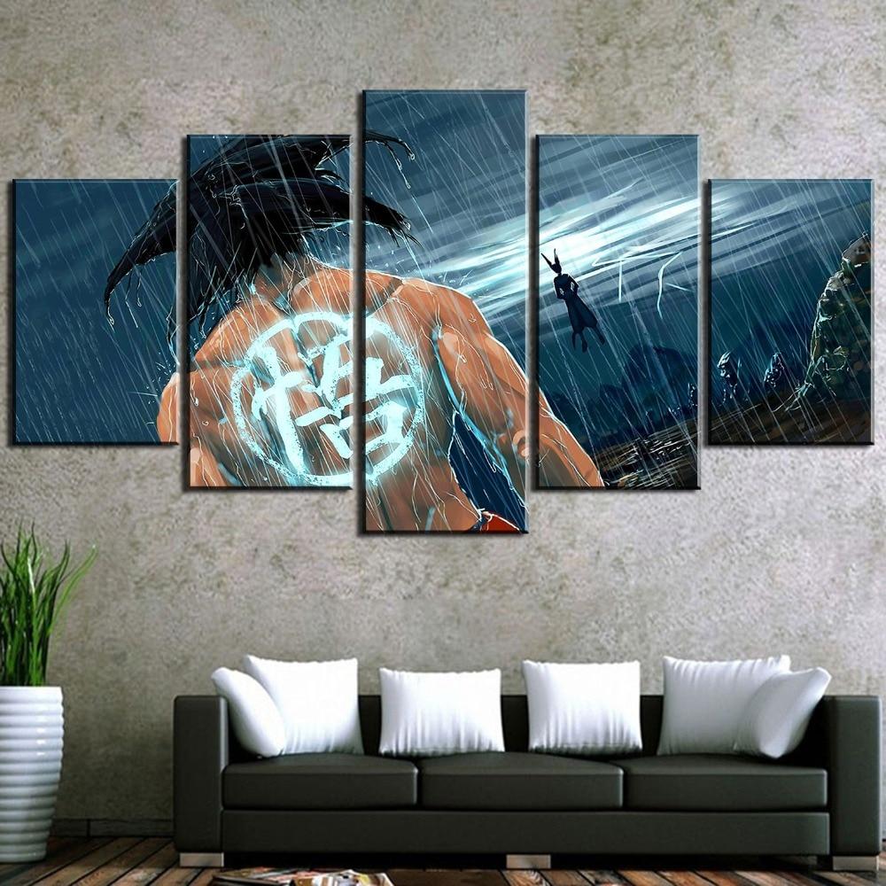 Destroying Millennium Falcon Art 5 Pcs Canvas Wall Decorating Home Decor Poster