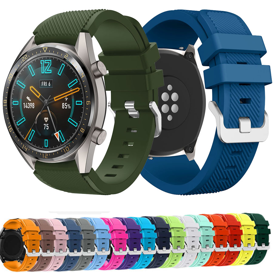 Fashion Silicone Watch Band For HUAWEI WATCH GT GT2 GT 2 Smart Watch Strap Band Bracelet Belt Sport Replacement 22mm For Gear S3