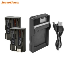 Powtree For Canon 2PCS 7.2V 2800mAh BP511A BP 511A 511 BP511 BP-511 Digital Camera Battery + LCD Charger EOS 300D 10D 20D