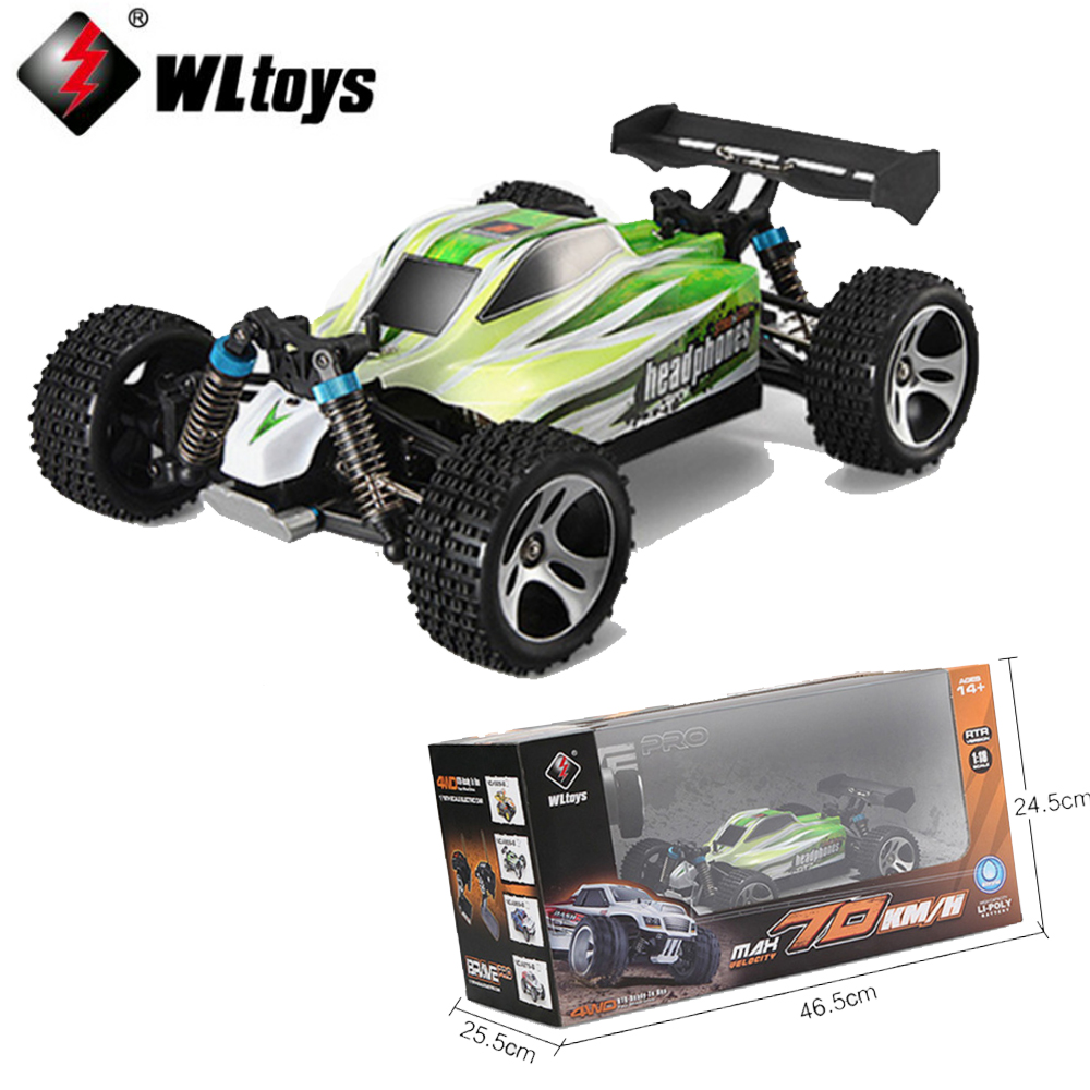 1 set Wltoys A959-B 4WD 70km/h 1:18 remote control car Off-road Racing Car High Speed Stunt SUV Toy 2.4G 540 Brushed Motor mini rc car 1 28 2 4g off road remote control frequencies toy for wltoys k989 racing cars kid children gifts fj88