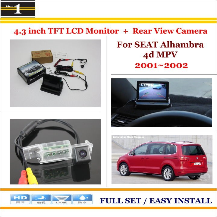 SEAT Alhambra 4d MPV 2001~2002-2 in 1 Parking System