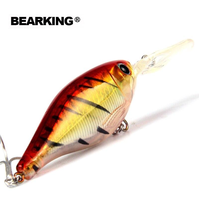 Venta al por menor 2017 buena pesca minnow... shad calidad profesional cebos duros 8 cm/14g bearking modelo caliente penceilbait crankbait
