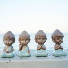 Статуя Будды фигурка украшения монах чай Pet аксессуары бонсай сад украшение дома татхагата Индии Мандала Home Decor