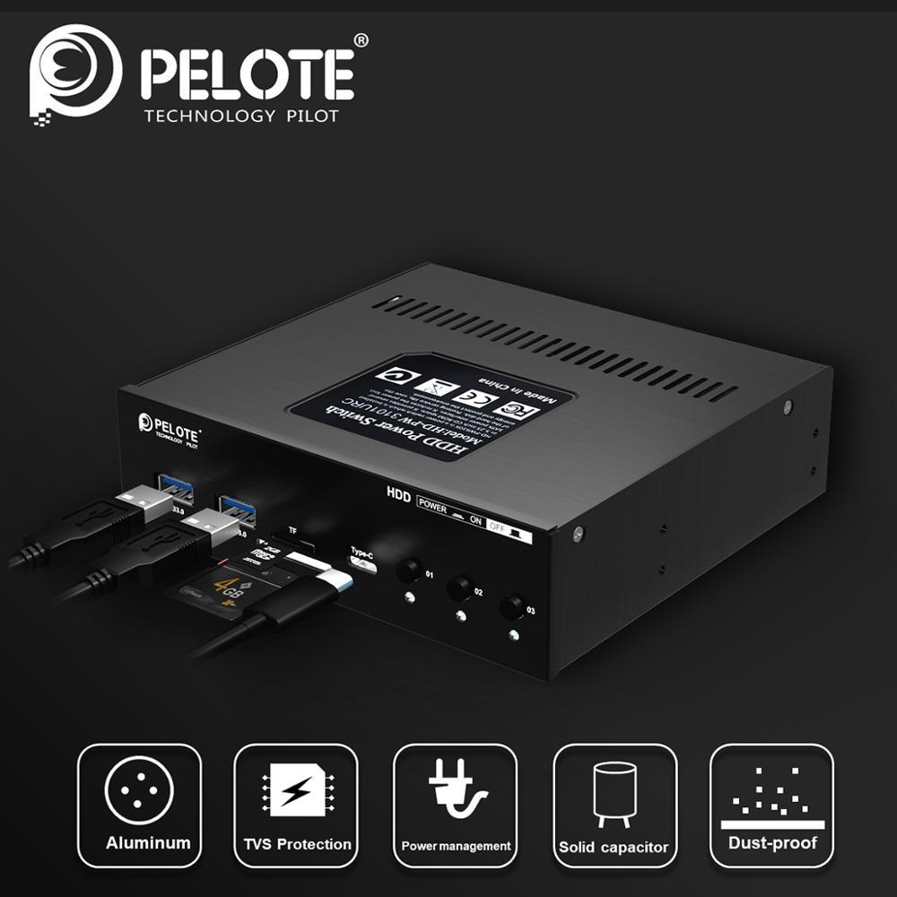 Commutateur de puissance multifonction HDD SSD Type C + 2 USB3.0 + lecteur de carte SD/TF commutateur de contrôle du système de disque dur (emplacement pour cd-rom PC