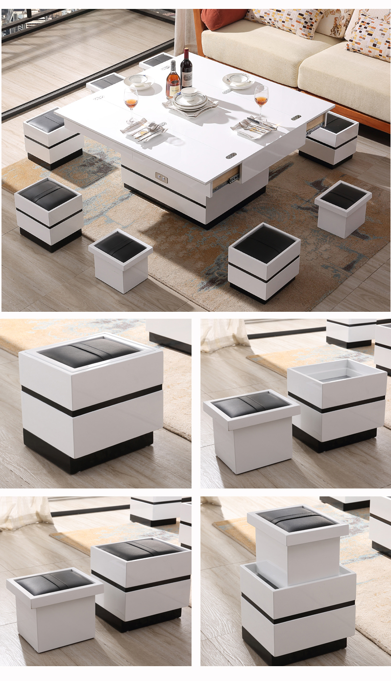 Electric Multifunction Foldable Coffee Table Living Room Liftable And Lowerable Minimalist Rectangle Mesas Centro Dining Table Coffee Tables Aliexpress