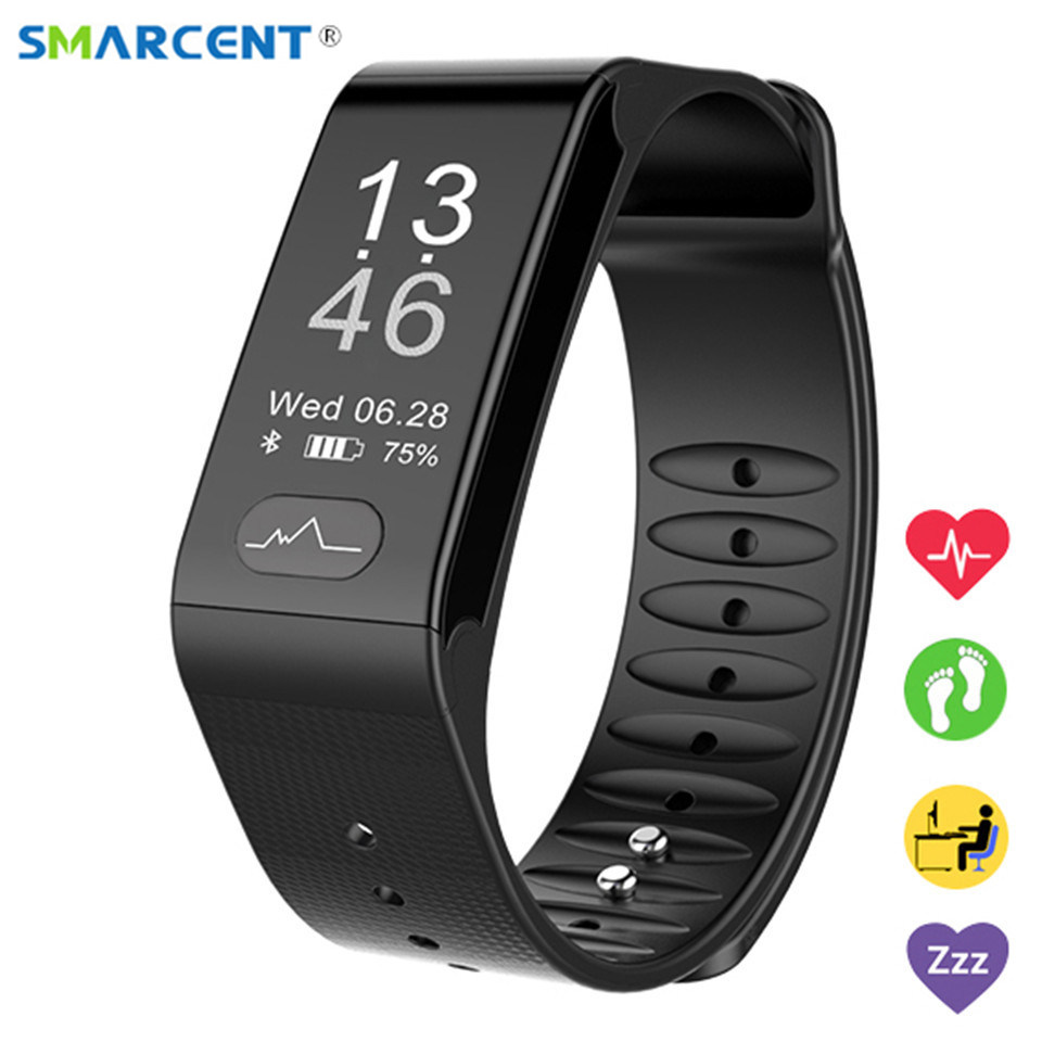 SMARCE T6 Heart Rate Smart Band Watch ECG Puls Blood Pressure Monitor Smartband Fitness Bracelet Wristband For Android IOS Phone