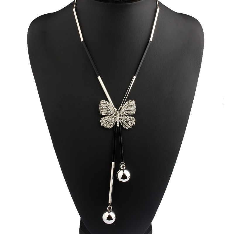 long-black-and--silver-necklace-with-butterfly-pendant