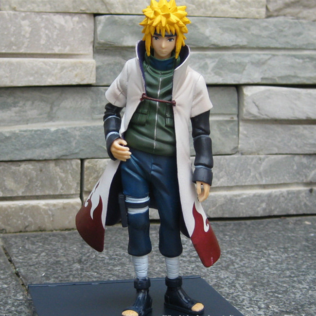 SAINTGI Naruto Shippuuden Hokage suit Namikaze Minato PVC Action Figure  Anime Toy Collectible Model Doll 15CM Free shipping neca planet of the apes gorilla soldier pvc action figure collectible toy 8 20cm