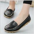 Весна Лето Новых Мужчин Обувь из натуральной Кожи Slip-на женщин Квартиры Комфорт женская Обувь мокасины плоские туфли