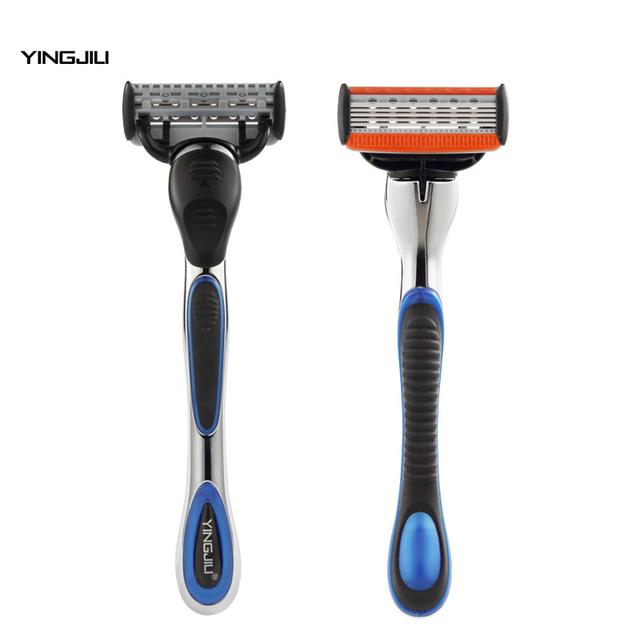 Yingjili hombres feelmax alternativamente ritmo 5 manual de hojas de afeitar lavable razor máquina de afeitar de afeitar razor con modificar las patillas